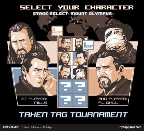 gamefreaksnz:  Taken Tag Tournament by Ninjaink USD$10 for 24 hours only Follow the artist on Tumblr
