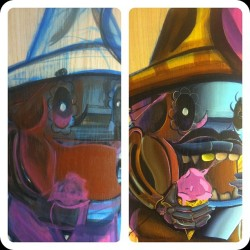 Side by side comparison #progress #art #design #graffiti #grill #icecream #character #painting #dayofthedead