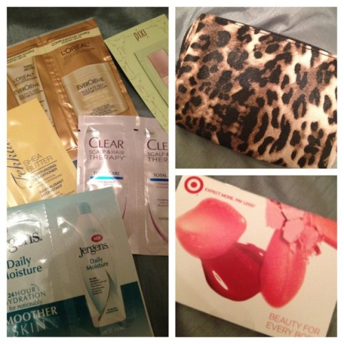 Target Beauty Bag! #targetbeautybag #beauty #bblogger #bbloggers #haircare #skincare #primer #coupons #shampoo #conditioner #october #leopard #cheetah #hurricanesandy #sandy