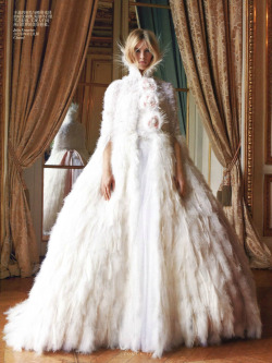 "Julia Frauche in Chanel Fall 2012 Haute Couture for ""Simply Elegant"" by Patrick Demarchelier for Vogue China F/W 12.13"