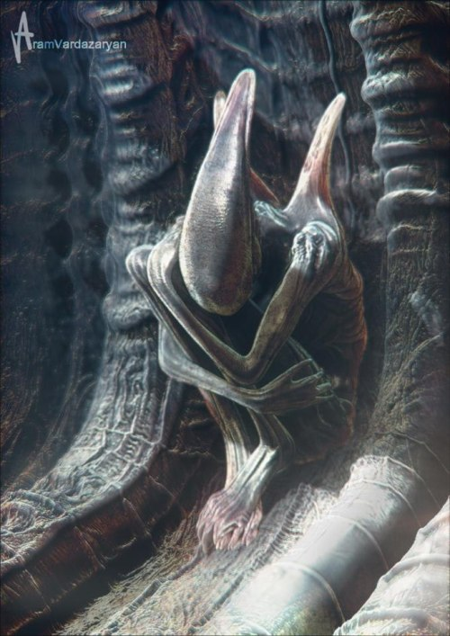 owls-blog:  Concept-art of Alien. Prometheus.   so lonely