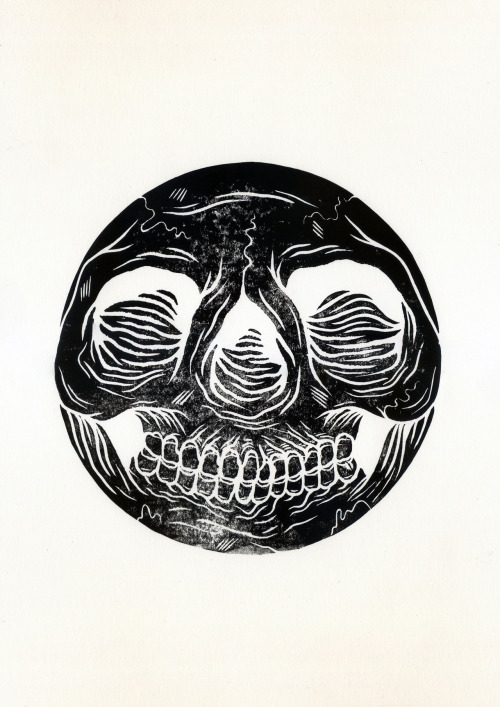 Skullball, Lino Print, Edition of 20 (available here)