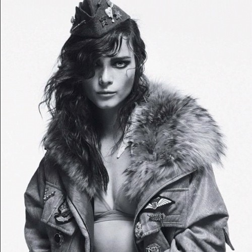 more and more #annaderijk #military #tank #girl #model #jalouse #editorial
