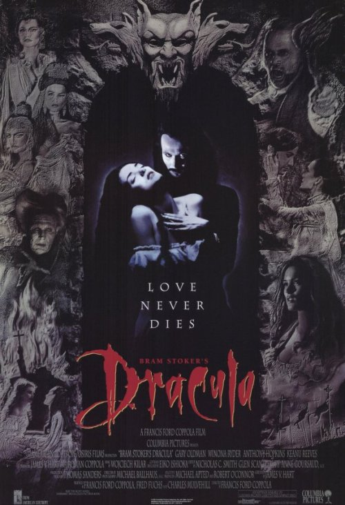 Halloween Movie Challenge: 29 out of 31 Bram Stoker's Dracula This is one of my favourite films ever. A dark and beautiful love story with the classic vampire before Twilight came and pissed on everything! The overall work gone into the costume design was beautiful, and a certian red dress always reminds me of my best mate ;-) Hands down to the makeup effects team, as Gary Oldman various transformtions throught the film were and always will be incredible!!! It has alot of critasism over casting, esspecially Keanua Reeves voice in it but hell, i enjoyed the fact he didnt sound posh English  he sounds old English ! Gary Oldman plays an outstanding performance as Dracula and has some fantastic cast along side him (Antony Hopkins, Winona Ryder) I love all the familiar faces featured in the film also such as Cary Elwes, Richard Grant and LOVEEEEEEE the fact Tom waits stars in the film as Renfield!!! I recently learned at university about some of the tricks they pull which you would initial assume was CGI which made me love the production of this film even more! This is THE vampire film to watch at Halloween, always gets me, and being the first proper vampire film I ever saw… it holds a very close place in my heart. xxxxxx