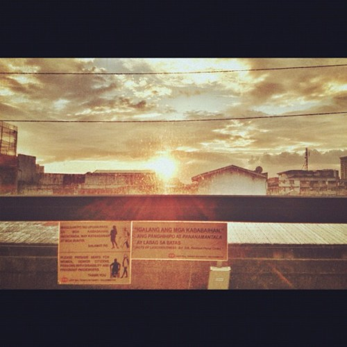Manila Sunset #lrt #igers #igersmanila #sunset