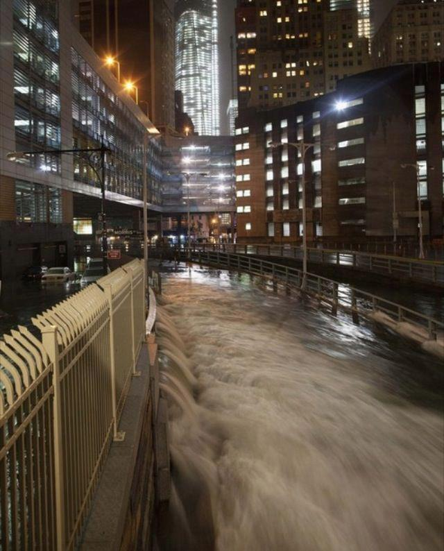 Water flooding the Brooklyn Battery Tunnel from Eric Burris via MR TWISTER/Facebook | post by ysvoice