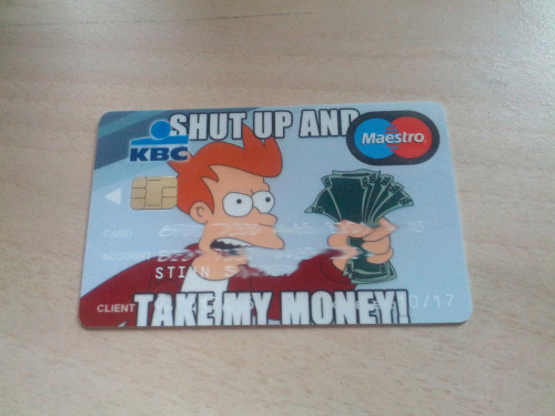 New credit card, fuck yeah!