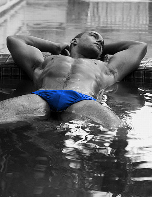 Blue Speedo!