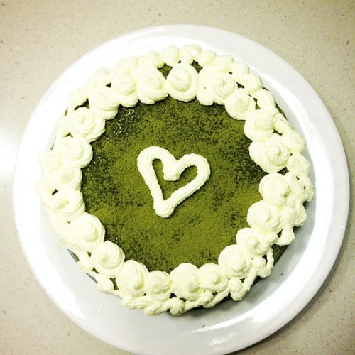 UGLIEST CAKE I EVER MADE LOL </3 #matcha