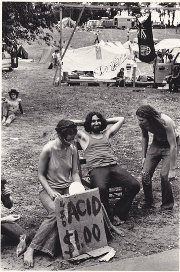 paulinago:  Selling acid for one dollar  - Powder Ridge Rock Festival