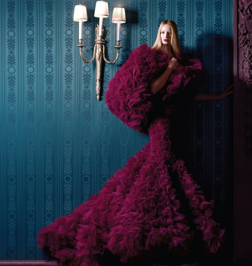 monsieur-j:  Maud Welzen by Benjamin Kanarek for Harper's Bazaar Spain November 2012