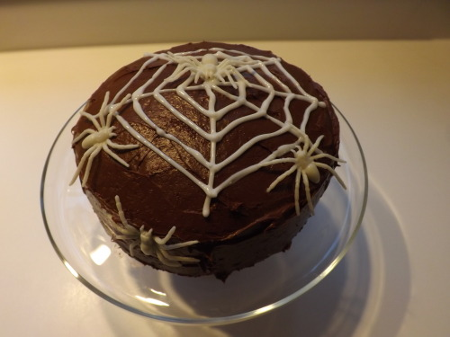 Another photo of the spider web cake because I really liked it.