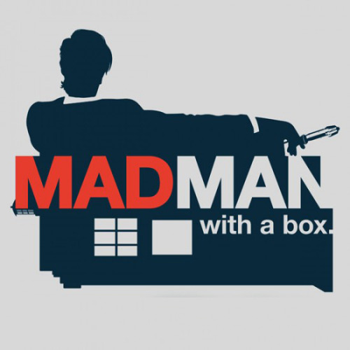 theblueboxboy:  Here's a great Doctor Who / Mad men mashup by Stuart Down available from GimmickTees until November 4.