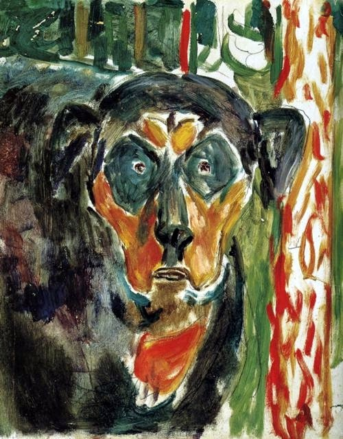 "Edvard Munch, ""Head of a Dog,"" 1930s"