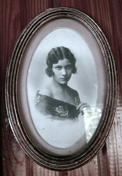 My great-grandmother when she was about 19 (circa 1919). She was an actress - not a hugely famous one but an actress nonetheless. She's also the person who I got my dark eyes and dark hair from and some people say I resemble her :3