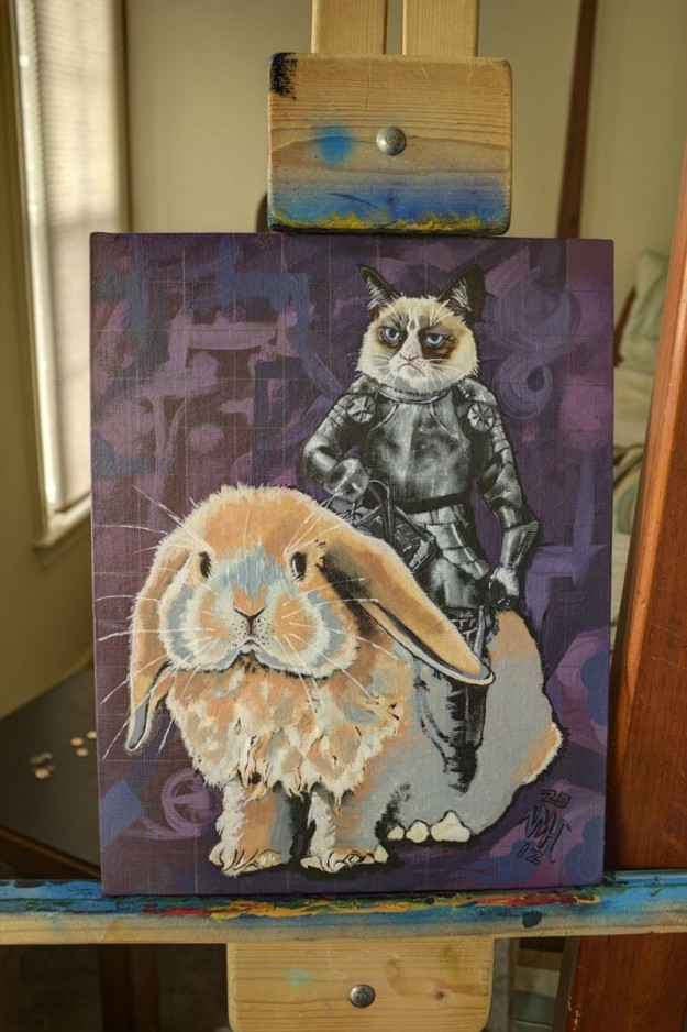 bunnyfood:  Art. (via Grumpy Cat)