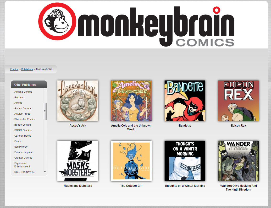 phoning-it-in:  In the month of November, MonkeyBrain Comics will be donating all profits to the HERO Initiative, a charity helping comics creators in need. MonkeyBrain's comics are all-around really great and I can't recommend enough checking them out and helping this great cause.   LET PEOPLE KNOW ABOUT THIS BY REBLOGGING IT!