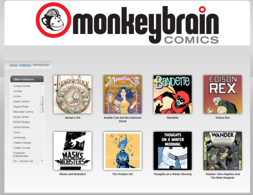 phoning-it-in:  In the month of November, MonkeyBrain Comics will be donating all profits to the HERO Initiative, a charity helping comics creators in need. MonkeyBrain's comics are all-around really great and I can't recommend enough checking them out and helping this great cause.