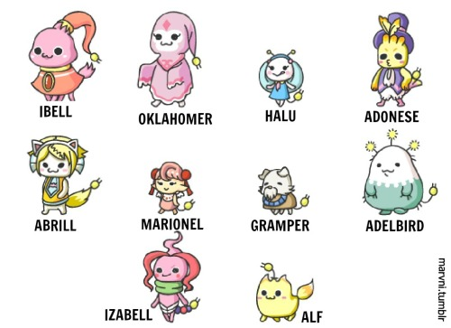"fuckyeahkawaiipetmegu:  submission: New MEGUs!  omg i love all of them! lol ""Gramper"" and ""Oklahomer"" wtf?"