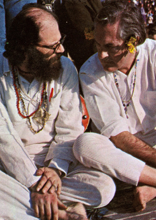 babylonfalling:  Ginsberg & Leary at the Human Be-In, January 4, 1967 Photo by Gerhard Gscheidle