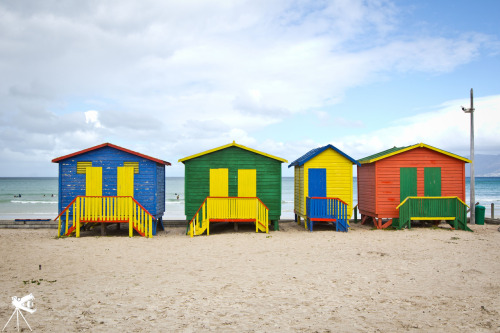 colorful shacks in Muizenburg SA