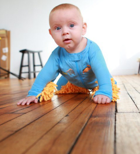 Baby Mops, Footed Pajamas Made So Babies Can Clean Floors