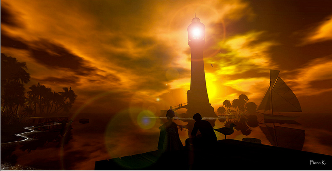 "Check out the Second Life Pic of the Day, ""Sunday Evening Sunset"", photo by Fiona Kappler.  http://bit.ly/TsqdVj"