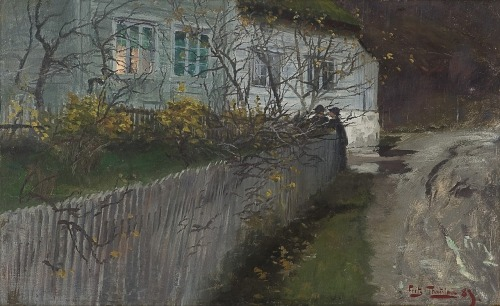 stelle-e-stalle:  Frits Thaulow, By an old Rectory