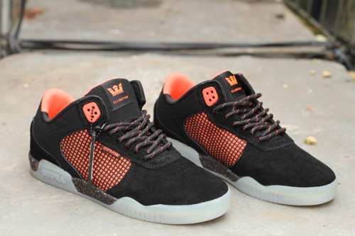 Supra Ellington Black / Neon Orange