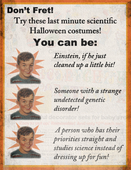 Last Minute Scientific Halloween Costumes