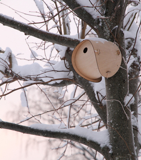 Birdhouse by Jack Smith, £25   Smith's flat pack birdhouse is designed to slip into an envelope and fit through a letter box. This house is suitable for an array of small British birds including the tit family, tree sparrow and pied flycatcher. Learn the ins and outs of assembly here.    Smith graduated with an MA in Design Products in 2011.