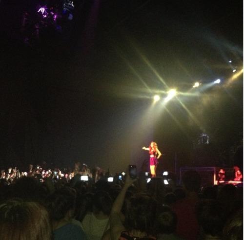 Craigs instagram picture of Cher performing in Adelaide, Australia