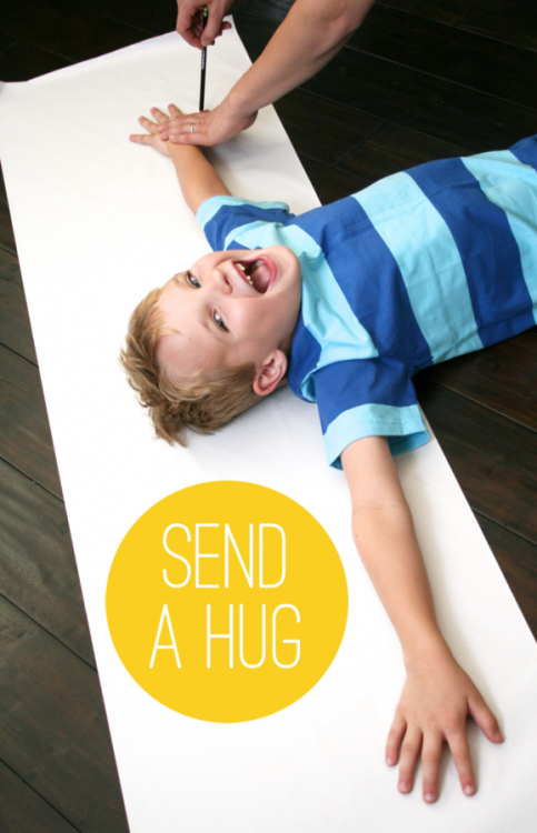 DIY Hug! I bet you could do a bunch of hugs..cute!!