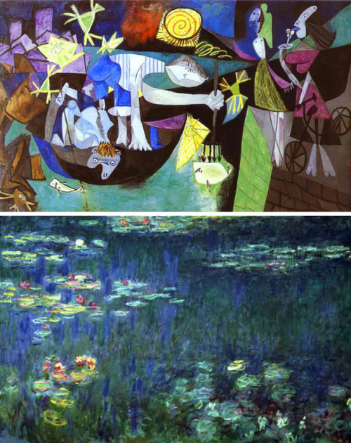 ORIGINAL PAPER: Honeybees can discriminate between Monet and Picasso paintings by Wen Wu, Antonio M. Moreno, Jason M. Tangen and Judith Reinhardvia JOURNAL OF COMPARATIVE PHYSIOLOGY Abstract Honeybees (Apis mellifera) have remarkable visual learning and discrimination abilities that extend beyond learning simple colours, shapes or patterns. They can discriminate landscape scenes, types of flowers, and even human faces. This suggests that in spite of their small brain, honeybees have a highly developed capacity for processing complex visual information, comparable in many respects to vertebrates. Here, we investigated whether this capacity extends to complex images that humans distinguish on the basis of artistic style: Impressionist paintings by Monet and Cubist paintings by Picasso. We show that honeybees learned to simultaneously discriminate between five different Monet and Picasso paintings, and that they do not rely on luminance, colour, or spatial frequency information for discrimination. When presented with novel paintings of the same style, the bees even demonstrated some ability to generalize. This suggests that honeybees are able to discriminate Monet paintings from Picasso ones by extracting and learning the characteristic visual information inherent in each painting style. Our study further suggests that discrimination of artistic styles is not a higher cognitive function that is unique to humans, but simply due to the capacity of animals—from insects to humans—to extract and categorize the visual characteristics of complex images. [click here to view the original paper via springerlink.com]