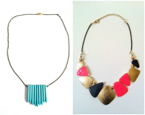 have you heard of sira&mara necklaces & bracelets? i just bought these two necklaces for $9 & $12, respectively. they have a pretty funky selection, and they're all priced quite well.