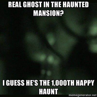 postdisneydepression:   Real ghost in the Haunted Mansion? I guess he's the 1,000th Happy Haunt  No fair.