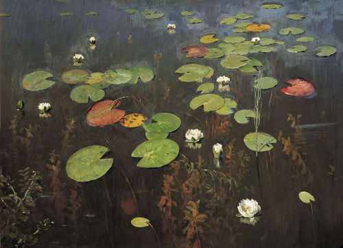 relishinrussia:  Isaac Levitan, Water Lillies (1895).