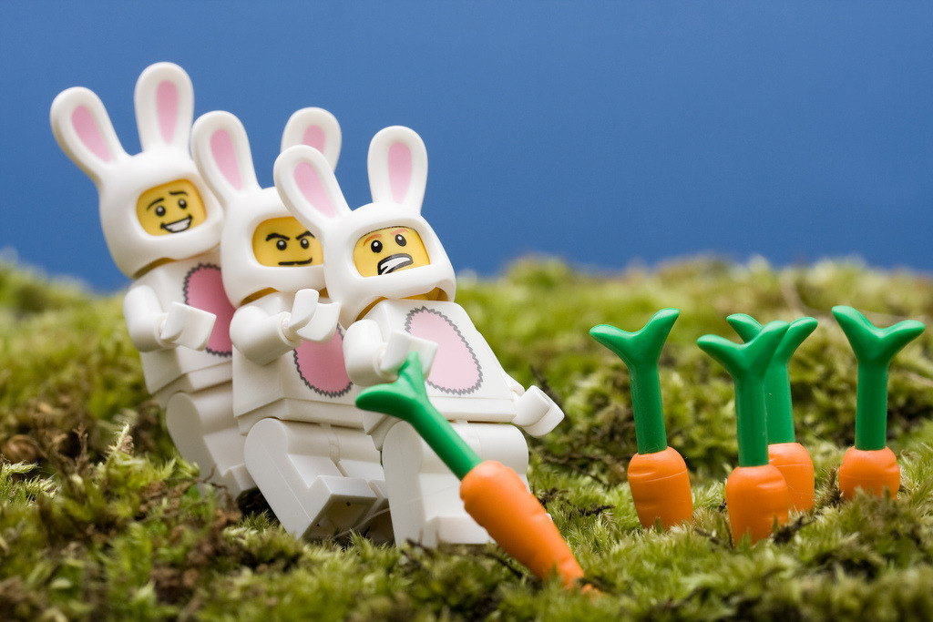 Lego Easter Bunnies (by Sad Old Biker)