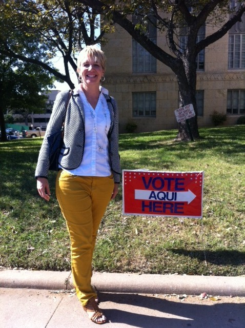 Early Voting! Business Librarian Austin, TX If you'd like to learn more about business research, you can check out bizologie.com where I, along with a few of my business librarian colleagues, give advice on conducting free business research.   [Day 2 of the EveryLibrary + Librarian Wardrobe partnership! Submit a photo of yourself on the way to/from the polls, voting absentee, or if you already voted, just take a picture of yourself dressed for work with a note that you did vote, and EveryLibrary.org will receive funding from an anonymous donor toward a $500 goal!]