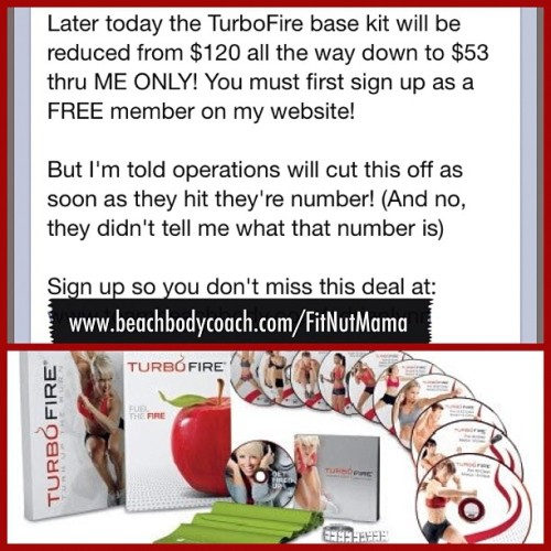 Please join me in a TurboFire challenge group! Get this awesome deal on TurboFire from me, just go to the website or friend me on Facebook (link on IG profile) for more deets. Let's get started!!! 👊💪 #turbofire #turbojam #beachbodychallenge #getfit #befit #getlean #belean #burncalories #beachbody #teambeachbody #thefitnut #strong #thinspiration #fitspo #fitspiration #trainmean #yourenottired #chalenejohnson  (at The Fit-Nut Coach)