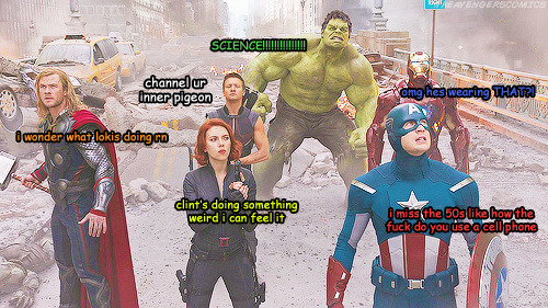 theavengerscomics:  a summary of the avengers    channel your inner pigeon