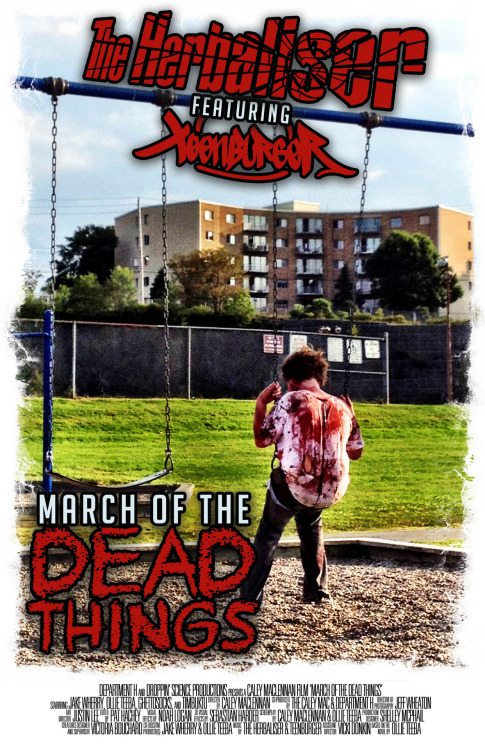 "We're proud to announce the Premiere of our new video for ""March Of The Dead Things"" ft Teenburger on VEVO at 12am Pacific Time HALLOWEEN- 31st October Directed by Caley Maclenan, shot in Halifax, Nova Scotia. It's an awesome video!"