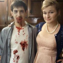 Brad and I as a zombie and Betty Draper!