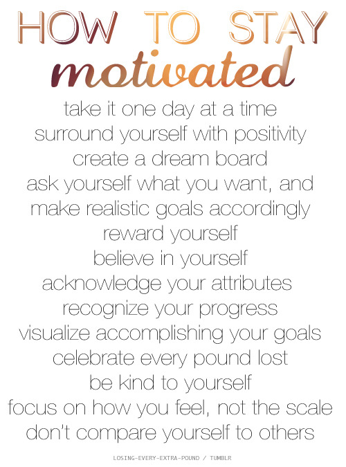 Motivation tips