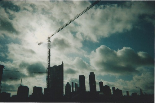 tumblropenarts:  photograph taken with a disposable camera Austin, TX Early hours riding the bus. Amber Macias Follow Me at http://tangeriinne.tumblr.com/