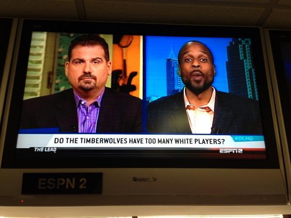 "What's a ""White"" player? Is ""White"" a sport? I thought the Wolves employed ""basketball"" players. @Suga_Shane"