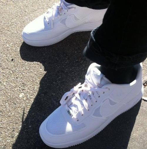 Nike Lunar Force 1 - White/White looks like the Air Force 1 will continue with new colourways for its 30th anniversary.  classic white on white look with the mesh and hyperfuse uppers. click here for more pics Related articles Nike Lunar Force 1 Fuse (sneakernews.com)