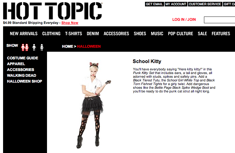 BAD KITTY FOR HOT TOPIC
