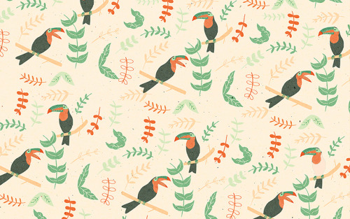 naomiwilkinson:  repeat pattern of the toucans