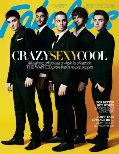 The Wanted for the latest issue of Fabulous magazine
